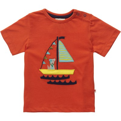 Piccalilly sea dog boat organic cotton t-shirt