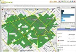 Geosmart farma. Selección de áreas por valor y aplicación de filtro