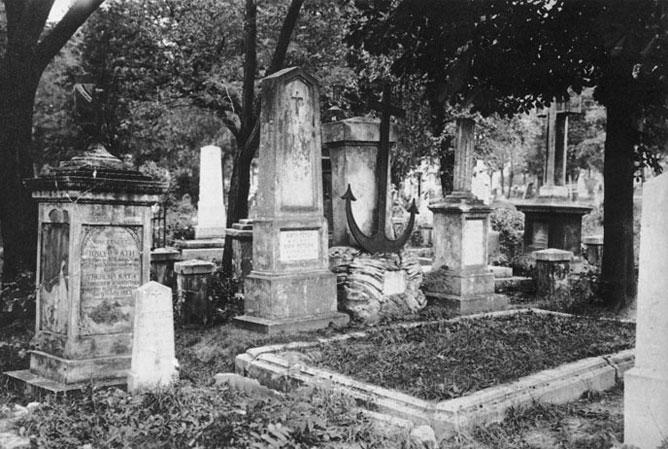 Régi temetői sírkert