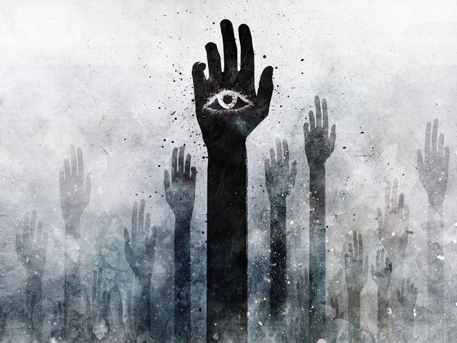 Kezek; harmadik szem.
