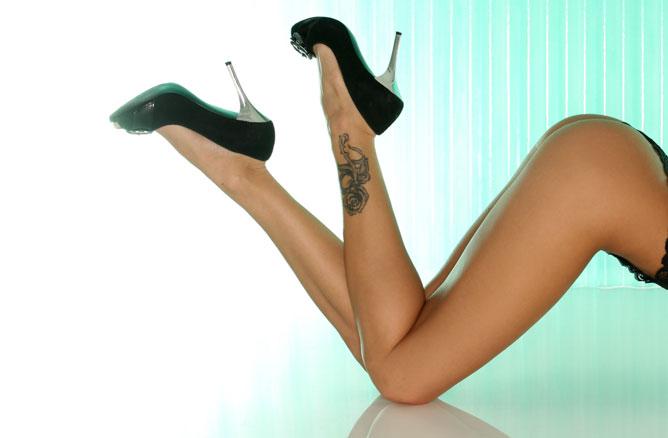 Erotikus női láb.