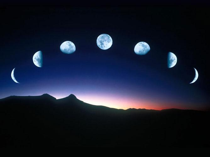 Holdfázisok.