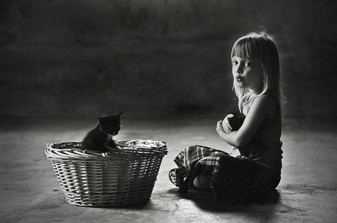 Macska simogatás.