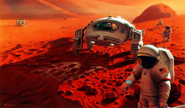 A Marsra lépés lehetőségei.