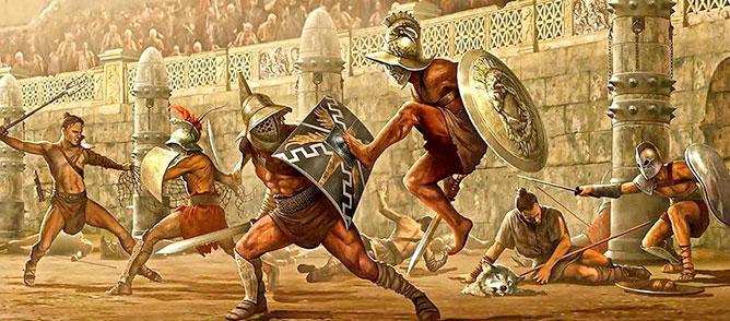 Gladiátorok.