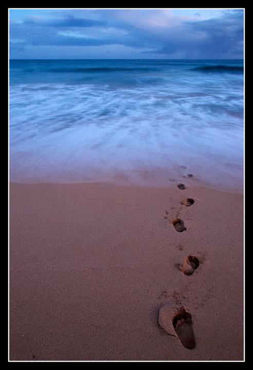 nyomok a homokban.