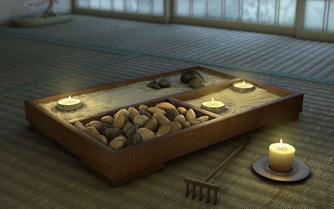 zen mini garden.