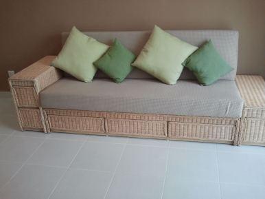Rattan Sofa Bed