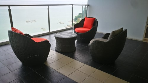 Island resort balcony chair