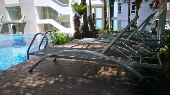 Island resort deck chair
