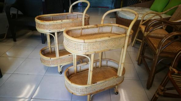Customade rattan trolley