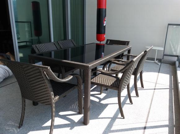 Infinity condo balcony furniture