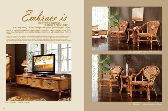 Newman Rattan Arm Chair Suite
