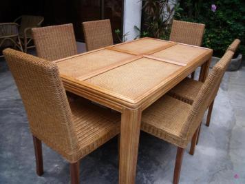 Rattan Dining Set 2689