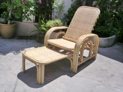Rattan Reclining Chair 1681