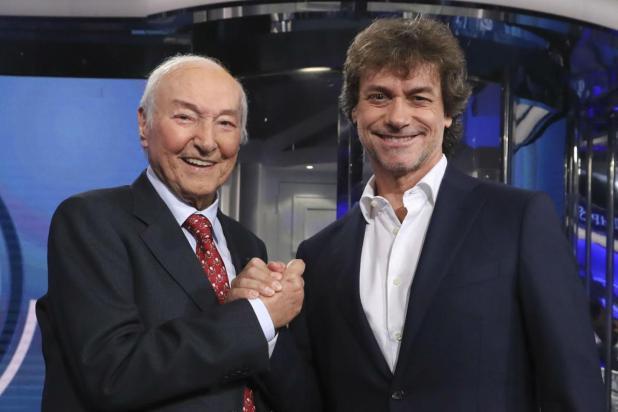 Piero Angela con suo figlio Alberto