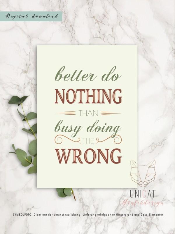 Poster Better do nothing