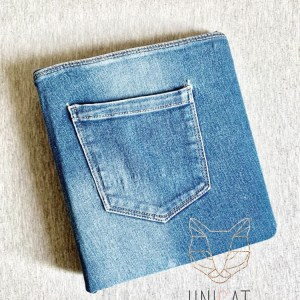 Ringmappe Jeans upcycled