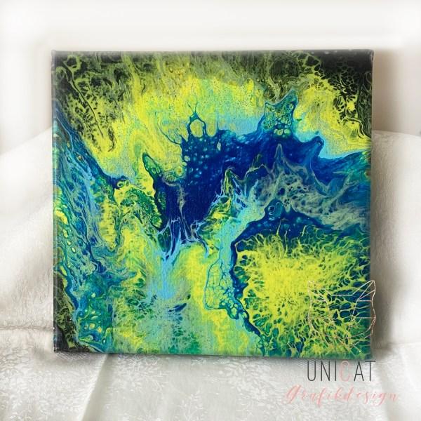 Acrylic pouring Leinwand