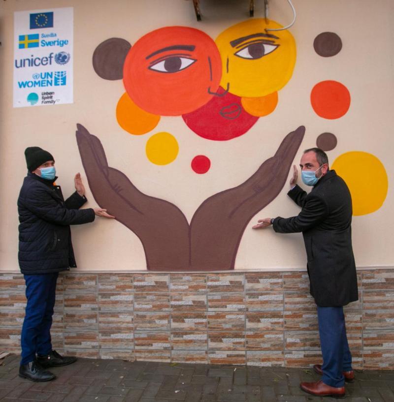 "Inaugurarea picturii murale profesionale pe peretele Cafenelei ""Coffee Walk"", Cahul"