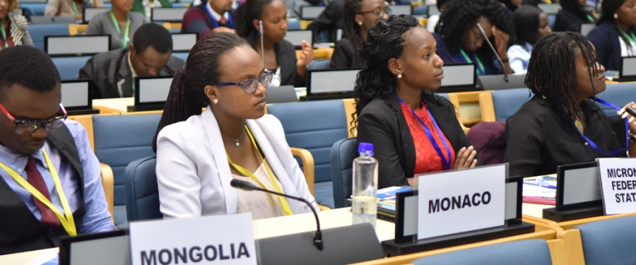 youth delegates at the afromun conference at UNON 2017