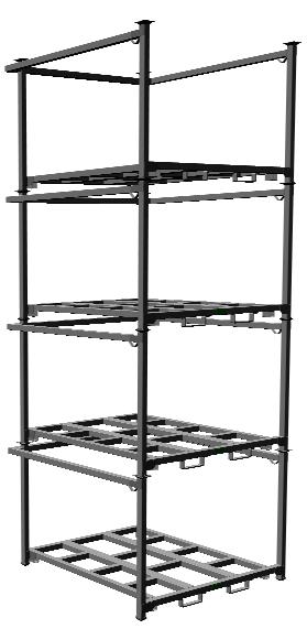 unicor shopping stacking rack 3 000 lb