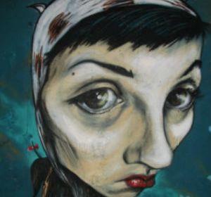 Perra - La Tonta El Bote - Verónica Sánchez - unicornia dreams - arte urbano - graffitera - mujer artista