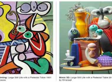 Pablo-Picasso---unicornia-dreams---inspiracion-picasso---Mimic---ilustracion-3D---Picasso-obras---Omar-Aqil---arte-visual---Mimic-Picasso