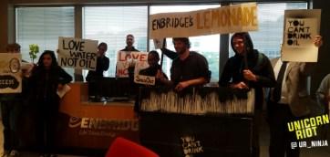 #noDAPL #noLine3 action at Enbridge, Inc. Edina location