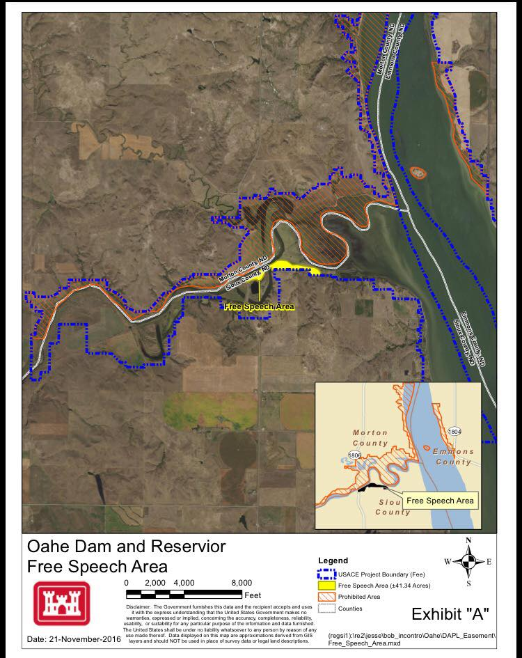 US Army Corps Of Engineers Announces Intent To Close Oceti - Us corps of engineers maps