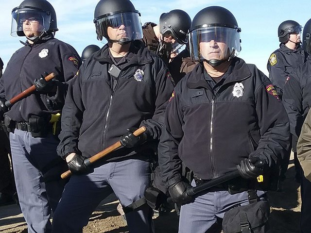 Wisconsin state troopers in Morton County, North Dakota. Image credit: Isthmus