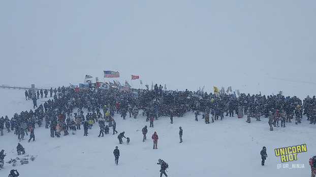 Veterans Apologize for Genocide & March to Backwater Bridge in Blizzard