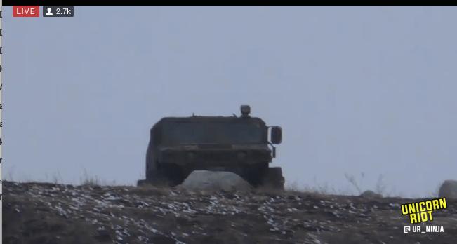 North Dakota Dismantles #NoDAPL Oceti Camp F23-hmv0-humvee-hill-tracked