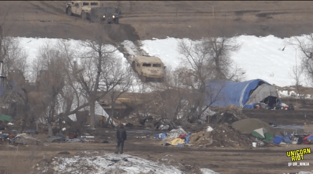 North Dakota Dismantles #NoDAPL Oceti Camp F23-invade5-hmv-in