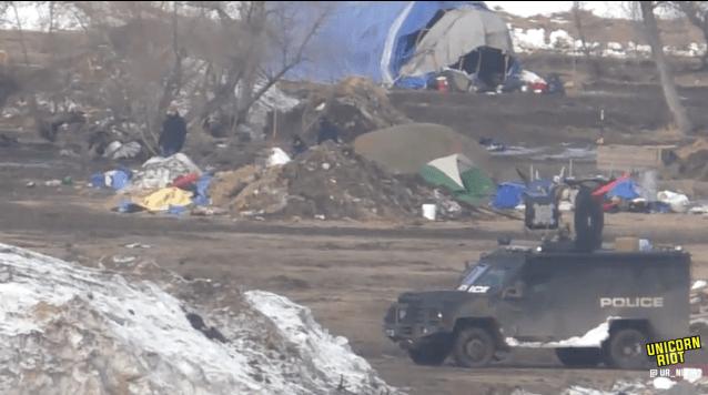 North Dakota Dismantles #NoDAPL Oceti Camp F23-invade7-bigtruck