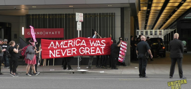 Denver Antifascists Oppose Right-Wing Turning Point, USA Conference at Grand Hyatt