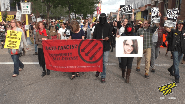 Minneapolis Marches in Solidarity With Murdered Anti-Racist Heather Heyer