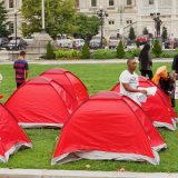 Housing Activists Hoist Tent City Occupation of Baltimore's City Hall