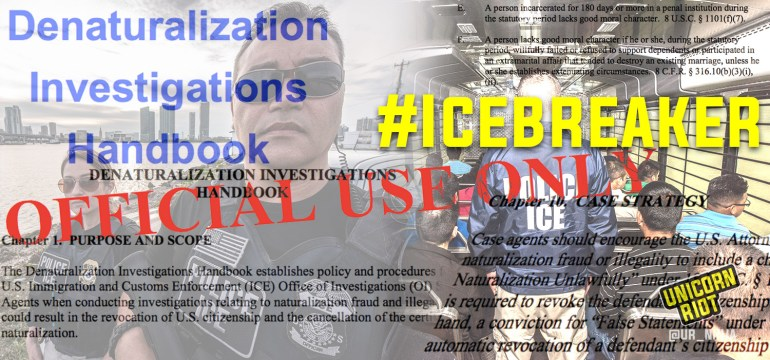 Icebreaker Pt 1 – Secret Homeland Security ICE/HSI Manual for Stripping US Citizenship
