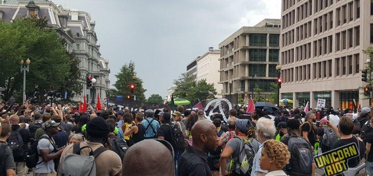 Anti-Unite the Right protestors in DC