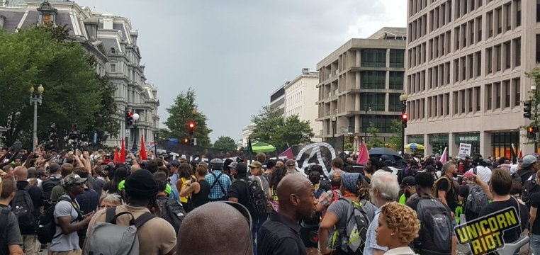 Anti-Unite the Right protestors in DC
