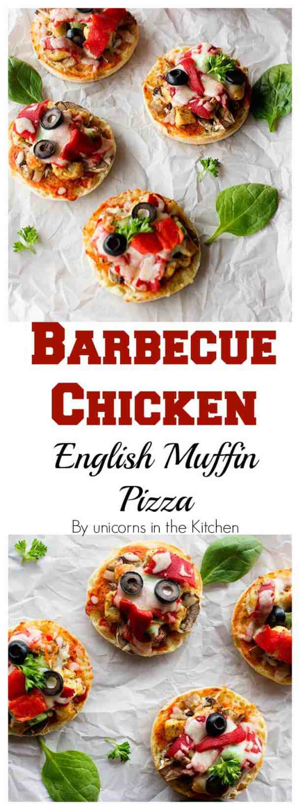 Craving pizza but don't want to make the dough? This Barbecue Chicken English Muffin Pizza makes things super easy! 20 minutes from start to table!