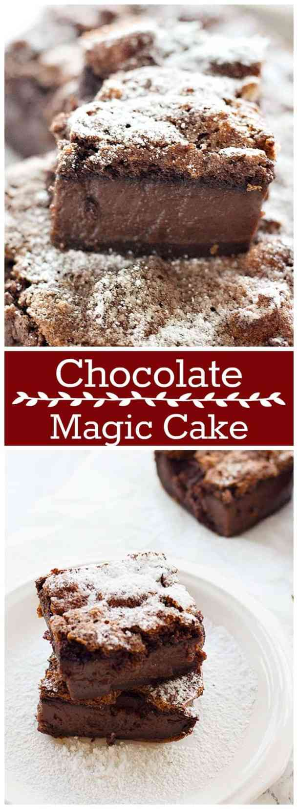 Chocolate Magic Cake | Chocolate Magic Custard Cake | Chocolate Magic Cake Recipe | Magic Chocolate Custard Cake