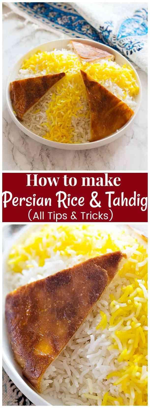 Persian Rice | Persian Rice Recipe | Persian Rice Tadig | Persian Rice Saffron | Tahdig Recipe | Tadig Recipe