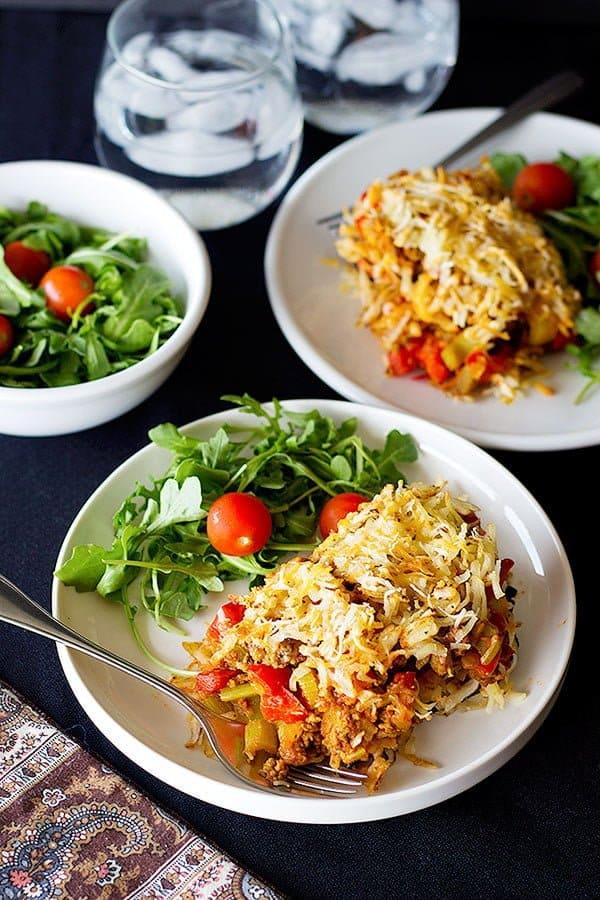 This Hash browns Eggplant Casserole is a great choice for dinner. This dish is a combination of Hashbrown, ground beef and roasted eggplant. It's easy and healthy!