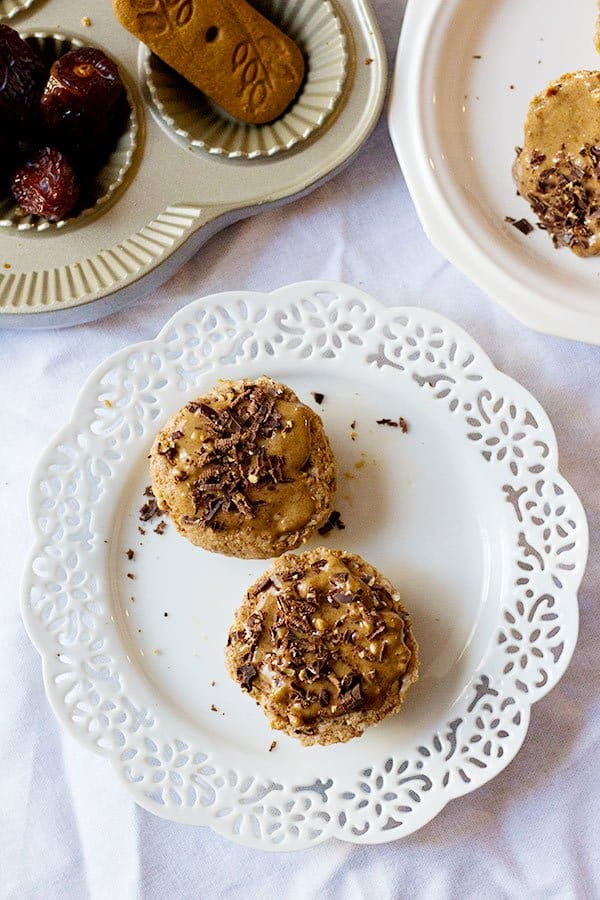 These Date Walnut Cheesecake Bites are great for snacking. The crust is mixed into the filling and the addition of walnuts and almond butter gives a nice nutty flavor to these bites!