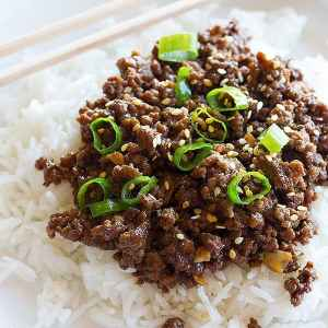 Quick Korean Beef and Rice Recipe
