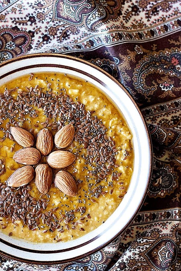 Pumpkin oatmeal recipe is easy and perfect for fall mornings.
