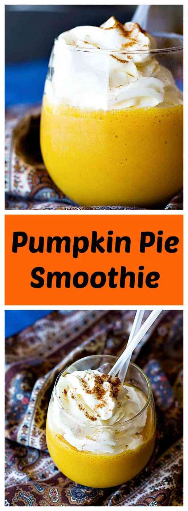 Start your morning with an all-time favorite fall dessert flavored smoothie. Pumpkin Pie Smoothie is naturally sweetened and tastes just like pumpkin pie!
