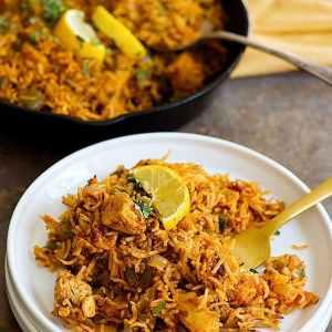 Chicken Chorizo Rice Skillet